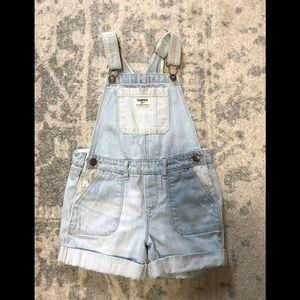Osh kosh Jean overall shorts